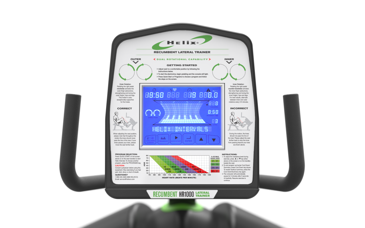 Helix HR1000 Recumbent Lateral Trainer image_2